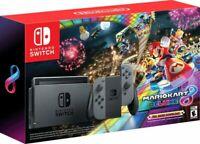 2020 Nintendo - Switch with Mario Kart 8 Deluxe Console Bundle - Gray Joy-Con