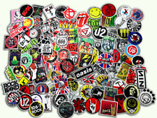 100 PCS Rock Band Logo Stickers Decal Lot Punk Music Vinyl Heavy Metal.