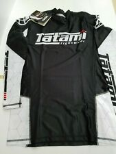 New Tatami Polytronic Husky White MMA BJJ Jiu Jitsu LongSleeve LS Rashguard