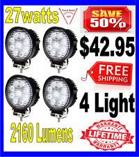 4X 27W 27watt 12V 24V 2160Lumen Offroad SUV LED Round Work Light Truck Boat Lamp