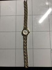 Vintage Estate Vivani Round Gold Tone Gold Lucite Band Wrist Watch A706/83