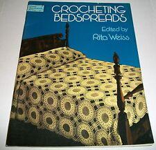 Vintage Pattern Leaflet 1978 Dover Crochet Crocheting Bedspreads