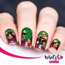 P046 Decorated December Water Decals Sliders for Nail Art Design