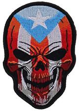 Large Patch Puerto Rican Flag Skull Patch, biker patches, skull patches,