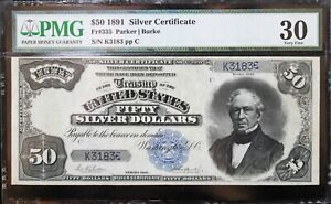 1891 $50 Silver Certificate PMG 30 Lowest Recorded Serial Number!