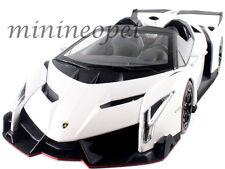 KYOSHO 09502W LAMBORGHINI VENENO ROADSTER 1/18 DIECAST MODEL CAR WHITE