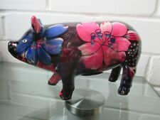 Stunning Vintage Hand-painted Ceramic Pig Piggy Bank