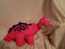 New listing Puffalump Bruce Brontosaurus Dinosaur Plush Roars Fisher Price Neon Pink 1992