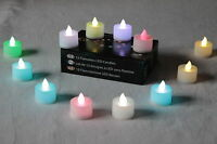 12 Diwali Decorations Diya Colour Changing Candle Battery Tea Light by PK Green