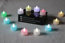 12 Diwali Décorations Diya Couleur Changeante Bougie Batterie Tea Light par Pk Vert