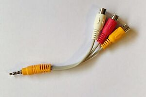 Genuine TCL AV IN  Cable LCD LED TV Video Audio Adaptor Cord for TCL TVs