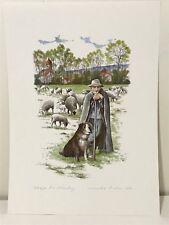 SIGNED MONIKA HELLER COLE ART PRINT UNFRAMED SHEPHERD NUREMBERG GERMAN DOG