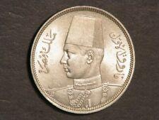 EGYPT 1939(AH1358) 5 Piastres Silver BU