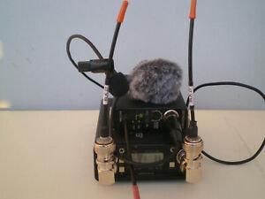 Lectrosonics UCR 411A Receiver LM Transmitter Lav Mic Furry Windshield Block 27