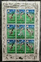 Jamaica 1968 Cricket Sports Batsman Games full sheet with decorative Border MNH