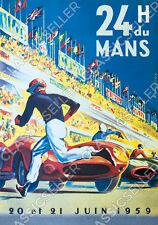 Course 24 H 24 H le TU Mans 1959 Poster affiche image Ferrari Publicité Event
