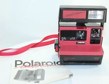 Polaroid COOL CAM 600 Instant Film Camera RED BLACK United Kingdom + Manual