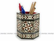 """Vintage Moroccan Pencil Holder 4"""" Home and Office Gift Organizer"""