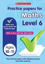 NEW Scholastic KS2 PRACTICE PAPERS - MATHS   Level 6   SATS TESTS  10-11