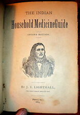 Indian Medicine Household Guide, James Lighthall Medicine Man. 1883 Edition
