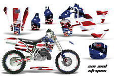 Honda CR500 With # Plate Graphics Kit Dirt Bike Wrap MX Decals 1989-2001 SIN USA