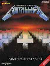 METALLICA - MASTER OF PUPPETS GUITAR TAB SONG BOOK