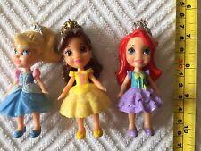 Disney Princess Mini Figures With Poseable Arms/Head Belle Cinderella Ariel