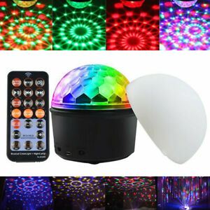 9 Color Bluetooth Disco Party LED Stage Light Music Speaker Magic Ball Lamp