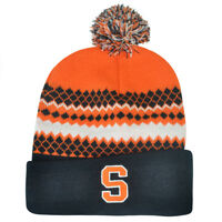NCAA Syracuse Orange Pom Pom Toque Cuffed Knit Beanie Winter Hat Skully Cuse