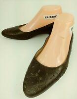 Franco Sarto Womens Shoes Flats US 7 M bronze Leather Studded Dress Work 5622