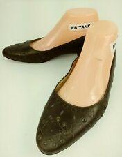 Franco Sarto Womens Shoes Flats US 7 M bronze Leather Studded Dress Work