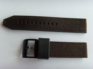 FOSSIL Original Ersatz Lederarmband CH2782 Uhrband watch strap braun 22 mm brown
