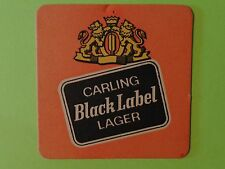 Vintage Beer Coaster ~ CARLING Brewing Company Black Label Lager ~ OHIO Brewery