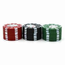 Tobacco Herb Grinder Spice Herbal Alloy Smoke Crusher 3 Layers Metal Casino Chip