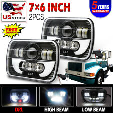 DOT 7X6 5X7 Hi/Lo Sealed Beam H4 LED Headlight For International 5900i 7300