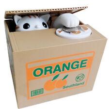 Katze Elektronische Spardose Sparschwein Kiste Sparbüchse Einsparung-Geld-Kasten