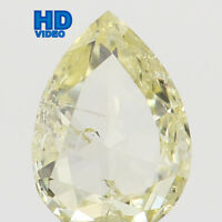 Natural Loose Diamond Pear Yellow Color SI1 Clarity 4.40 MM 0.16 Ct L6521