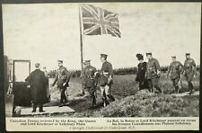 CANADA WWI PIC. POSTCARD OF CANADIAN TROOPS REVIEWED BY KING & QUEEN & KITCHENER