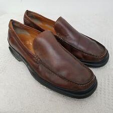 60e1f3f7e07 Cole Haan Mens Santa Barbara 11.5 Loafers Brown Leather Slip On
