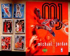 1998  MICHAEL JORDAN STICKER COLLECTION SET COMPLETO + RARO ALBUM VUOTO