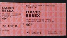 ticket billet UNUSED place concert DAVID ESSEX 1976 PARIS