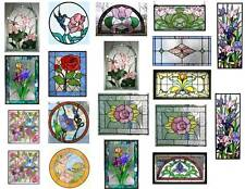 Dollhouse Miniature Shabby Chic Stained Glass Windows On Clear Sticker Sheet