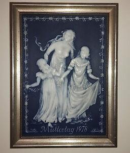 V&B Villeroy& Boch Wandbild Muttertag 1978 Phanolithplatte Bild Muster