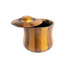 Wooden Kitchenware Ice Bucket & Lid Tulip Shape Tableware Bar Accessory Home ...