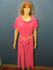 XL pink cowl neck stretchy dress by LENNIE FOR NINA LEONARD - NWT - new with tag