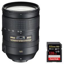Nikon 28-300mm f/3.5-5.6G ED VR AF-S NIKKOR Lens + Sandisk 128GB Memory Card