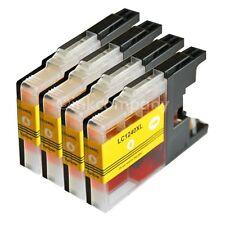 4x LC1240 yellow XL für Drucker MFC-J6510DW MFC-J6710DW MFC-J825DW