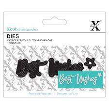 DOCRAFTS X-Cut Mini sentimiento Die-Mejores Deseos Troquelado Artesanías