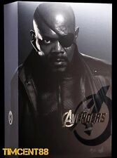 In Stock! Hot Toys Marvel The Avengers Nick Fury Samuel Jackson 1/6 Figure