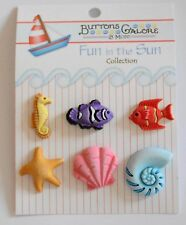 Ocean Wonders / Buttons Galore 3D Fun in the Sun / Sea Horse  Star & Angel Fish